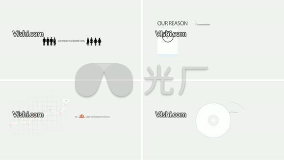 简约 企业商务风MG动画包