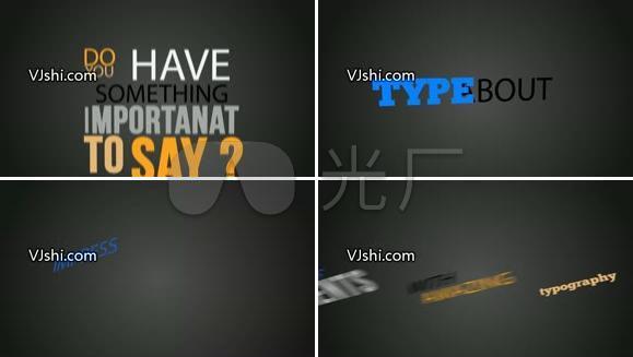 字幕排版动画设计AE源文件,含音频