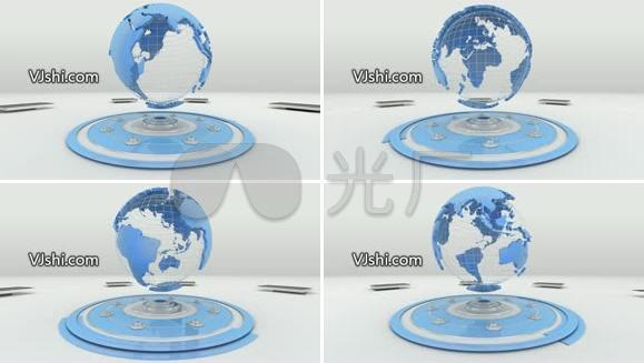 旋转地球视频