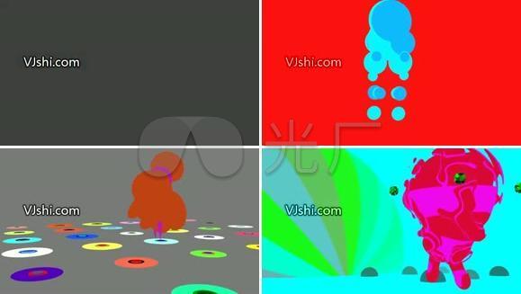 五彩动感炫动图形VJ素材
