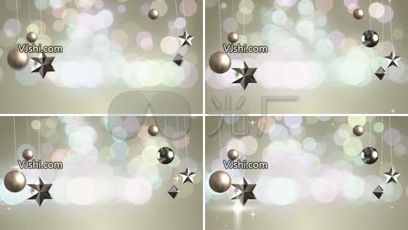 浪漫粒子星星视频