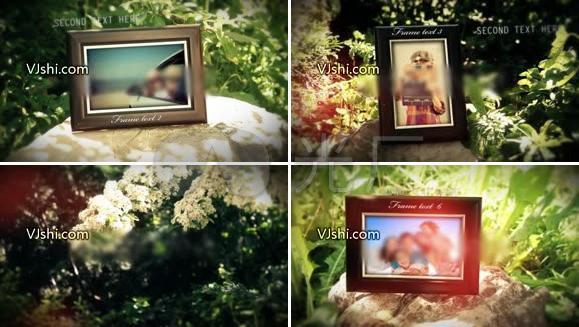 自然温馨爱情相册ae模板