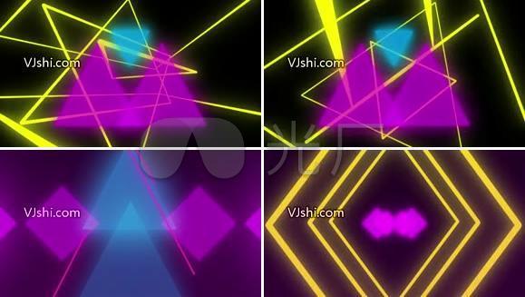 线条 霓虹 三角形 节奏