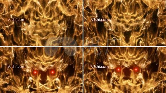 燃烧烈火红色眼睛