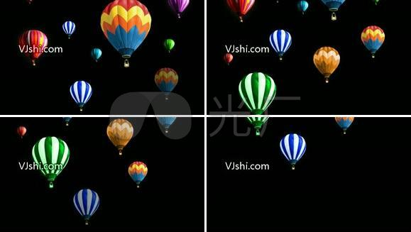 热气球【透明通道】
