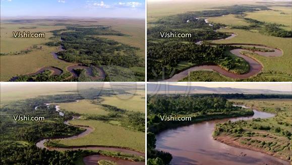 航拍 视频素材 河流