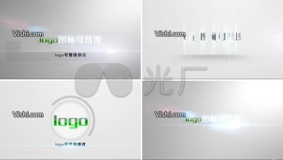 动态光影粒子LOGO演绎AE模板(八款logo片头模板合集)