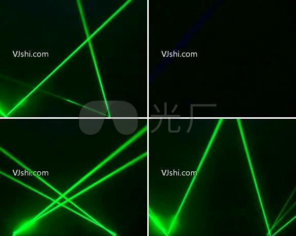 无缝循环绿色荧光节奏射线