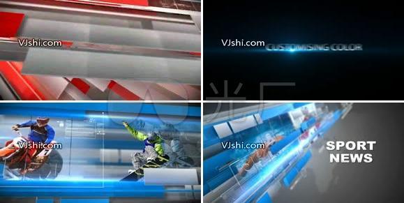 AE炫光大气震撼新闻栏目视频模板