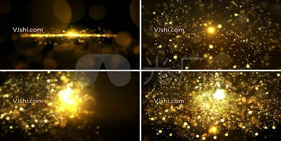 金色粒子颁奖背景视频