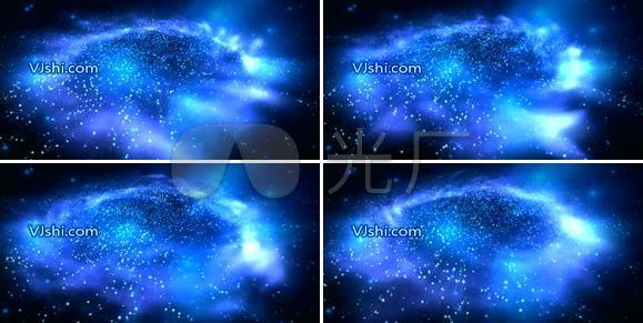 演绎抒情宇宙星空粒子
