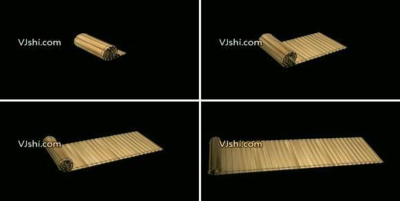 卷轴竹简书卷古典书籍文化古韵3D动画