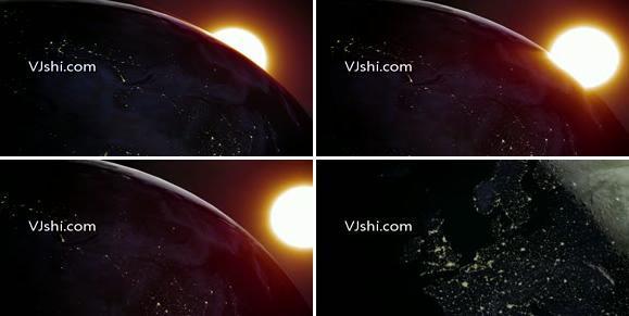 太空看日出