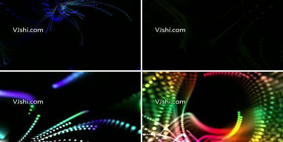 动态节奏粒子光线背景