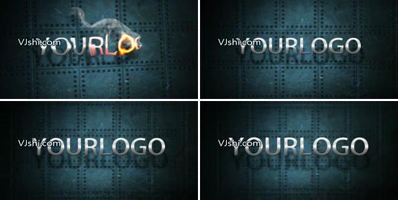 大气火焰震撼logo标题金属