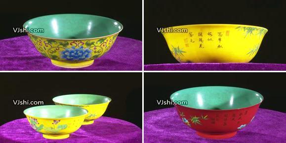 瓷碗多角度特写