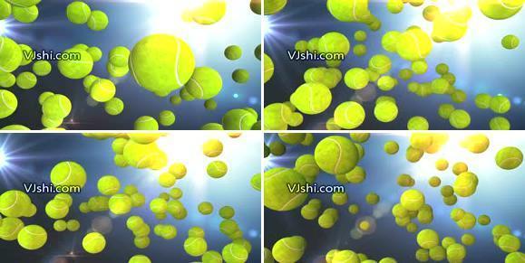 网球三维动画