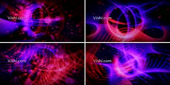 线条节奏光线紫色光线弹跳
