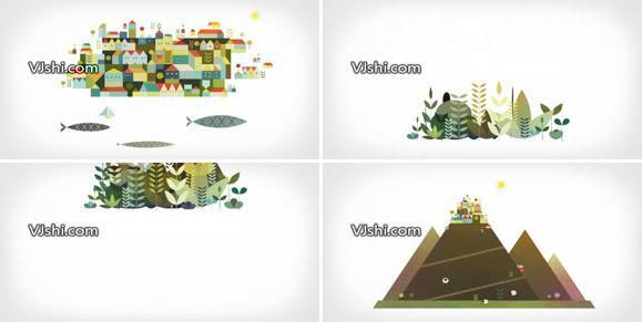 旅行饮食卡通动画