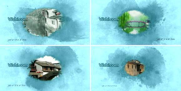 edius中国风水墨宣传模板片头模板