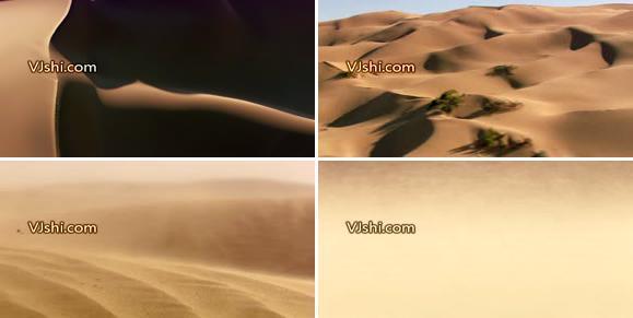 沙漠风光高清实拍视频素材