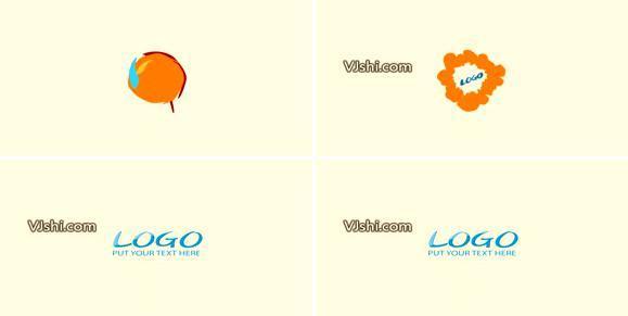 卡通趣味线条logo标志演绎AE模板_