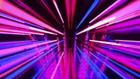 动感霓虹空间LED大屏幕VJ高清循环视频视频素材