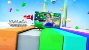 儿童节目片头(画面视频可更改)AE模板