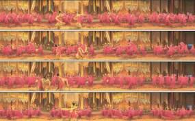 宫廷舞蹈视频视频素材