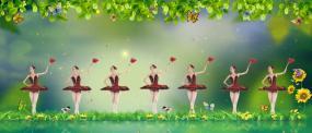 春天的芭蕾视频素材