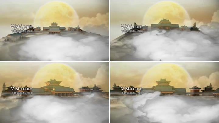 云雾缭绕的宫殿