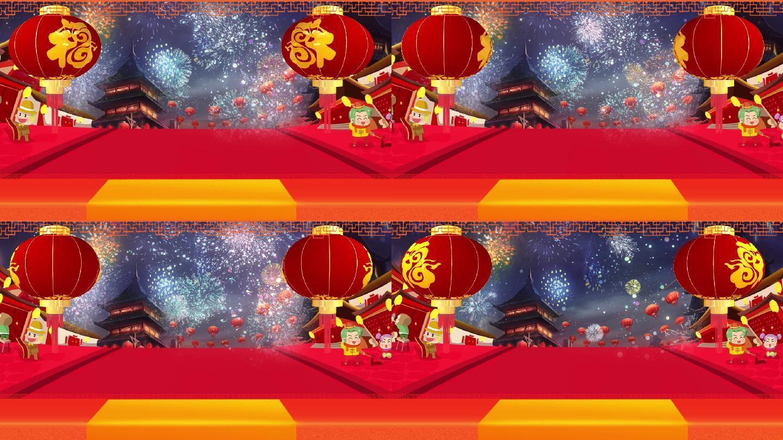 新年喜庆贺年拜年庆典春节节日无字背景