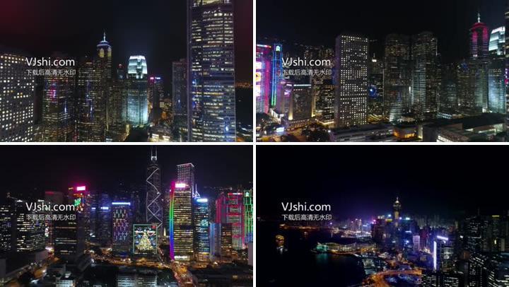 航拍香港夜景