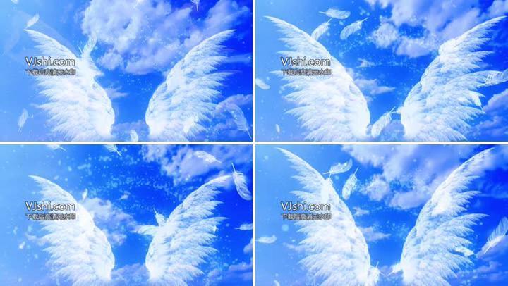 羽毛蓝天白云