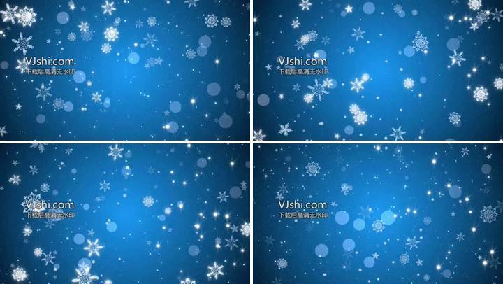 蓝色雪花视频