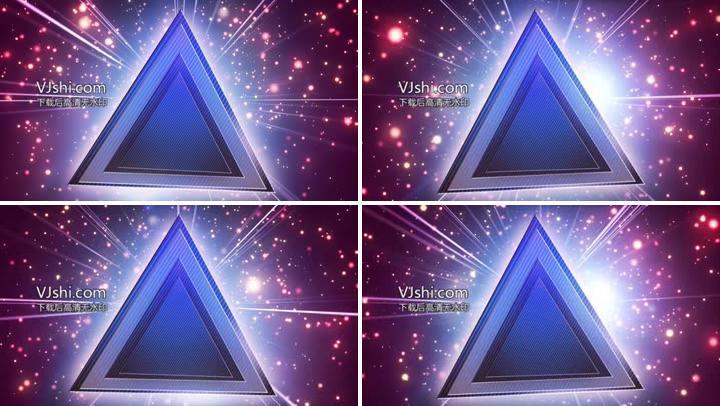 粒子发光闪耀闪光三角形LED背景视频素材