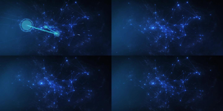 落版带入科技plexus粒子星云循环背景