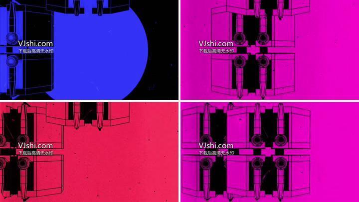 科技电音几何动画vj素材