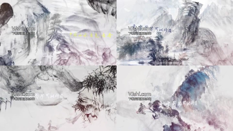 中国山水墨画AE模板