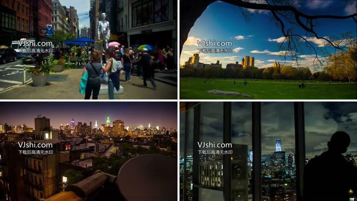 美国曼哈顿城市风光延时摄影