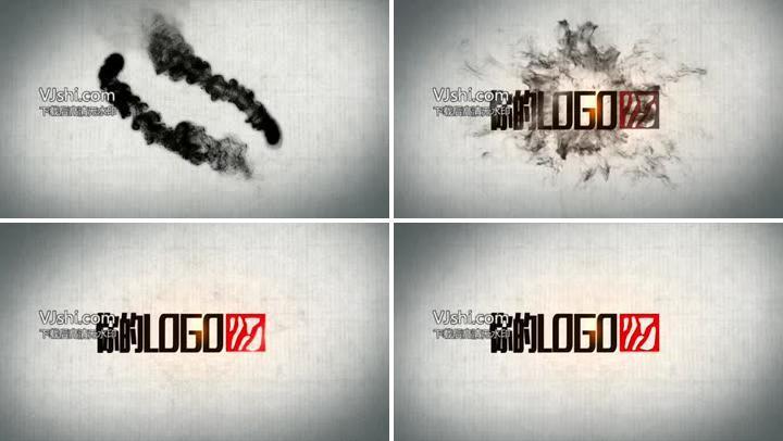 中国风水墨logo