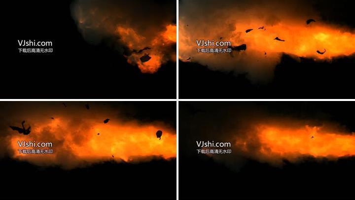 火焰爆炸带通道素材02
