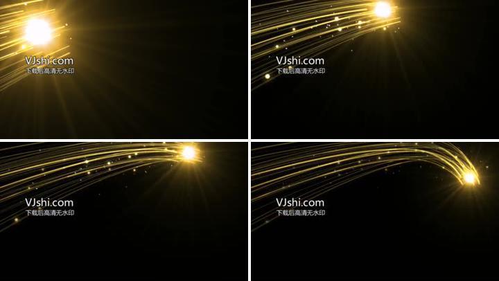 金色光线光带视频素材