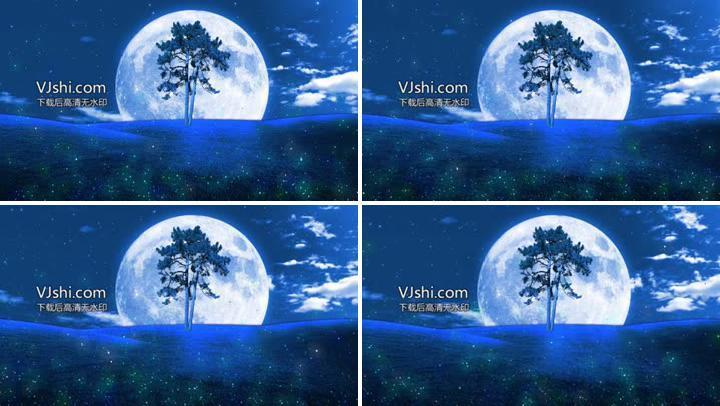星空月亮粒子