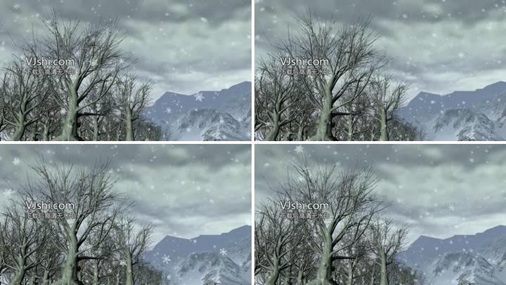 下雪背景素材