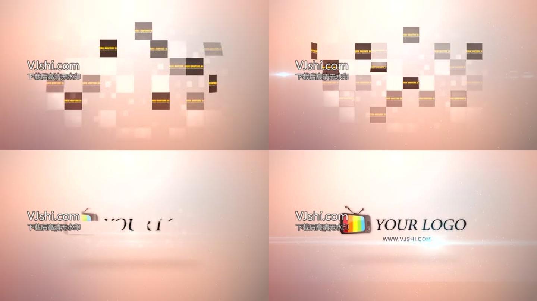 照片闪烁汇聚Logo模板