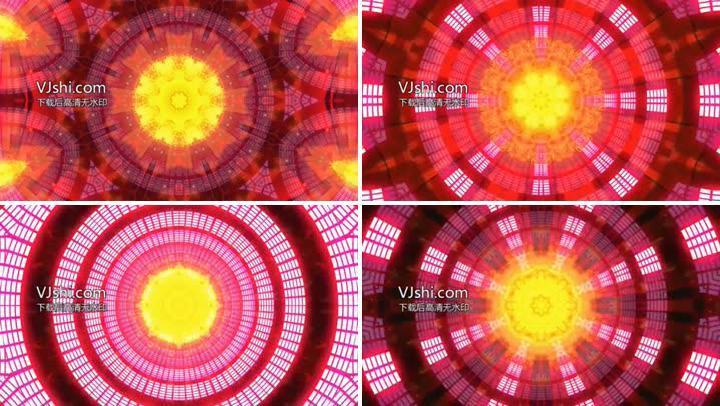 动感节奏酒吧夜店VJ素材万花筒开场视频