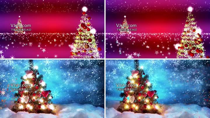 唯美圣诞树背景