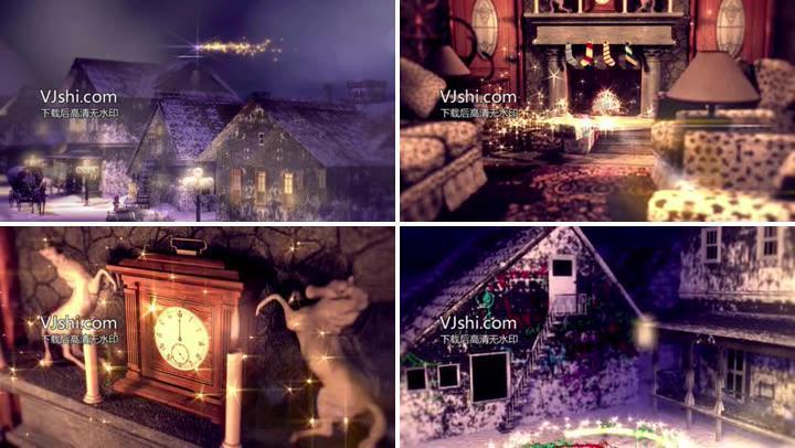 唯美圣诞节——圣诞树壁炉袜子梦幻星