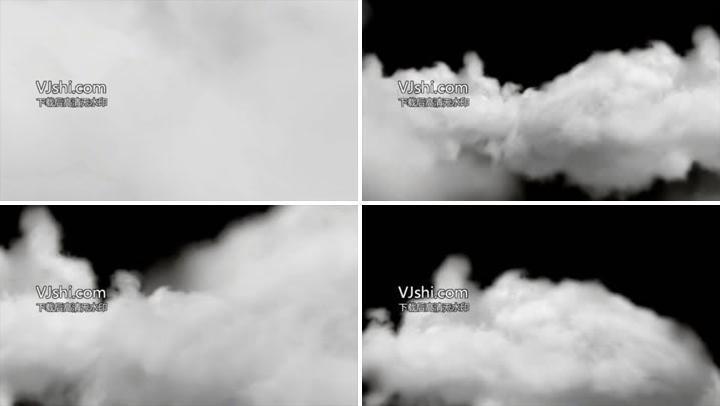 云层穿梭带通道合成特效素材